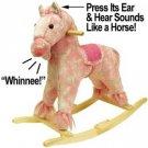 Pink Plush Rocking Pony with Sound