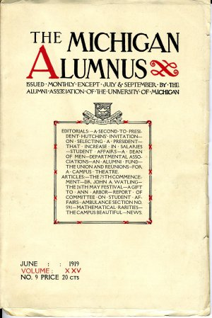 The Michigan Alumnus (June 1919)