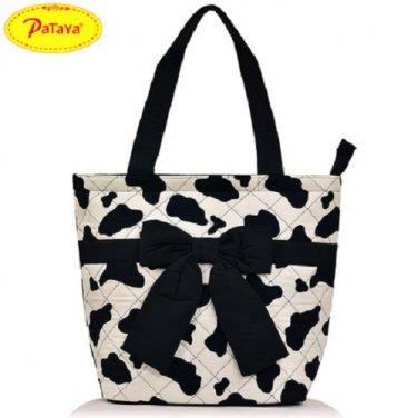 NWT Pataya Fashion Thai Cotton Bowknot bag Tote bag Long Handle Large