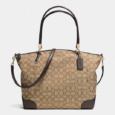NWT COACH KELSEY SATCHEL SHOULDER BAG CROSSBODY BAG IN SIGNATURE CANVAS f36220