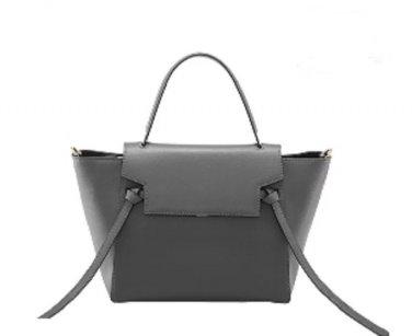 NWT Marino Orlandi Belt Leather Bag Shoulder Bag Handbag Dark Gray