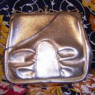 Creation Dianne vintage gold foil leatherette purse evening bag ll1554
