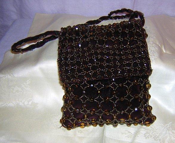 Jeanne Lottie beaded velvet evening bag shoulder strap Madeira ll1552