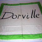 Dorville vintage silk signature scarf  fashion history large ll1813