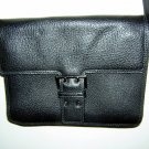 Francesco Biasia black leather shoulder bag purse Italy ll1604