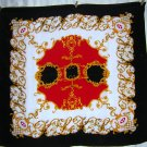 Mr. Jax large silk scarf heraldry design red white black gold ll1810