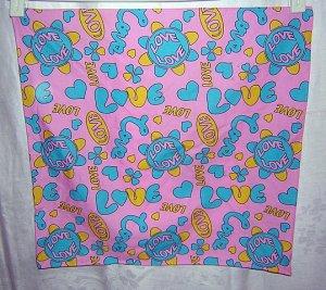 LOVE cotton hanky bandana kerchief ll1671