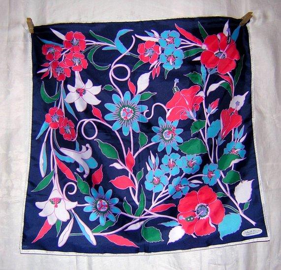 Unused acetate scarf Island Flowers Smith's Bermuda ll1878