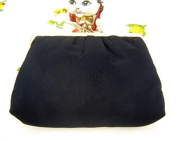 Nicely navy Du-Val evening bag simple elegance vintage ll1545