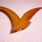 B + D Buch Deichmann lucite bird brooch Denmark vintage ll1988