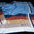 Lush Loredano silk scarf stripes blue solids large 31 inches ll1800