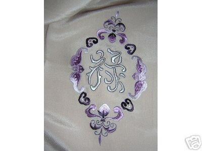Sumptious elegant long silk coat scarf mono Good Luck ll1704