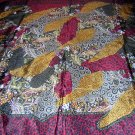 Jewel tone silk scarf design a la Klimt unused ll1792