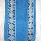 Oroton long bias scarf blue w diamonds summery pretty ll1872