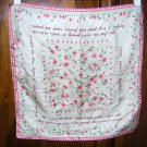 Ode to violets Gap silk scarf pink gingham poetry sweet ll1789