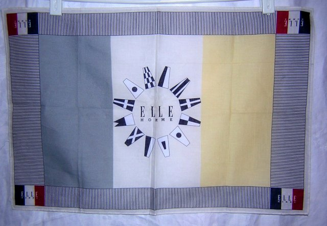 Elle Homme rectangular hankerchief nautical flags unused ll1658
