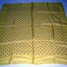 Soft Feminine yellow menswear print silk scarf vintage ll1774