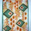 Vintage acetate scarf long bright Aztec like print unused ll1864