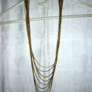 9 Chain rope necklace gold silver tone 31-40 inches vintage jewelry ll2039