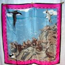 WWF coastal wildlife scene silk scarf made by Vera ll1769
