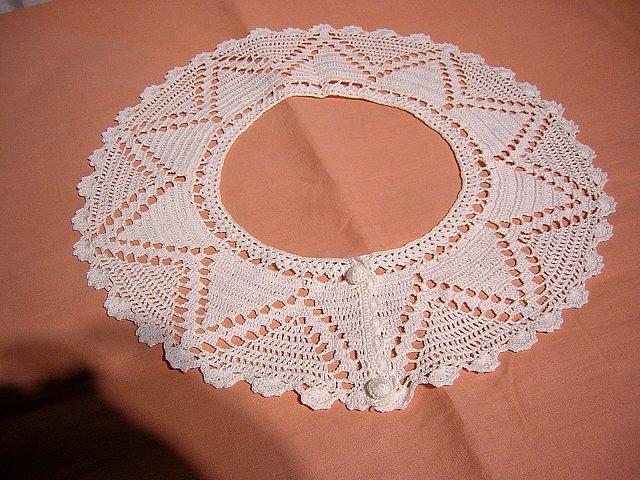 Dressmaker sweet white collar hand crocheted angelic ll1483