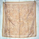 Neutral scarf feathery print 100% polyester made in Italy ll1859