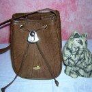 Gazzel Kangaroo pouch purse brown handbag made in Australia ll1573