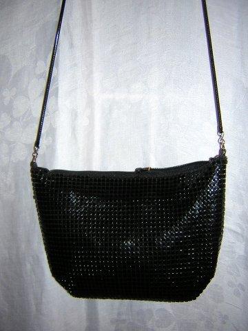 Slinky black aluminum mesh evening bag snake chain Rafy ll1535