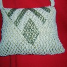Antique tiny beaded evening bag purse white silver Czechoslovakia ll1532