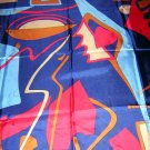 Miro-like colorful and fun synthetic scarf unused ll1852