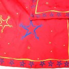 Stars on red jacquard silk scarf high quality holiday perfect 3 available ll1740
