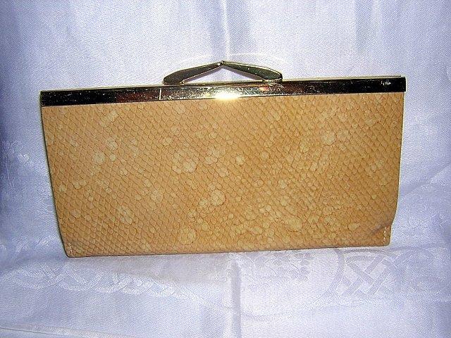 Buxton Tiffany wild bison clutch purse wallet honey unused vintage ll1892