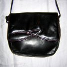 Black kidskin leather shoulder bag purse Ingledew's vintage 80s bag ll1890