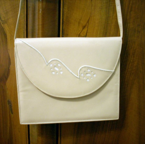 Capprino Spain beige calf leather dress-up bag shoulder or clutch ll1012