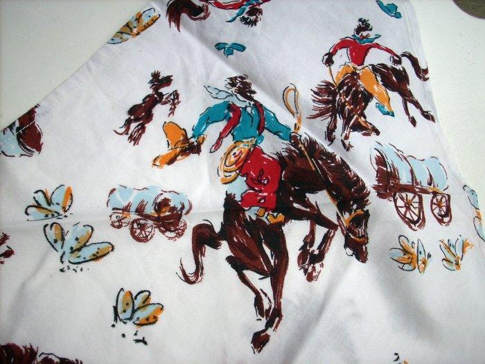 Cowboys and Conestoga wagons triangle cotton neckerchief scarf unisex  ll1055