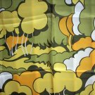 Italian made vintage acetate scarf abstract forest marvelous ll1072