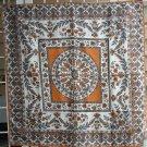 Vintage nylon scarf burnt orange and gray paisley design Glentex ll1076