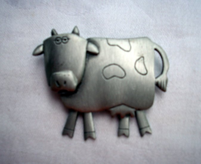 JJ pin brooch crazy cow movable legs vintage ll1084