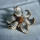 Marcel Boucher floral brooch dogwood signed numbered flower pin mint vintage ll1274