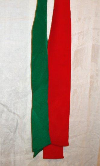 Two silk scarf ties in Christmas colors Tabi International unused vintage ll1362
