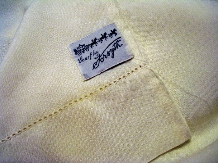 Forsythe antique dress coat scarf plain white threadwork hem unisex ll1374