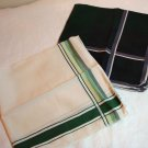 Set of 2 men's vintage cotton hankerchiefs fine quality ll1382