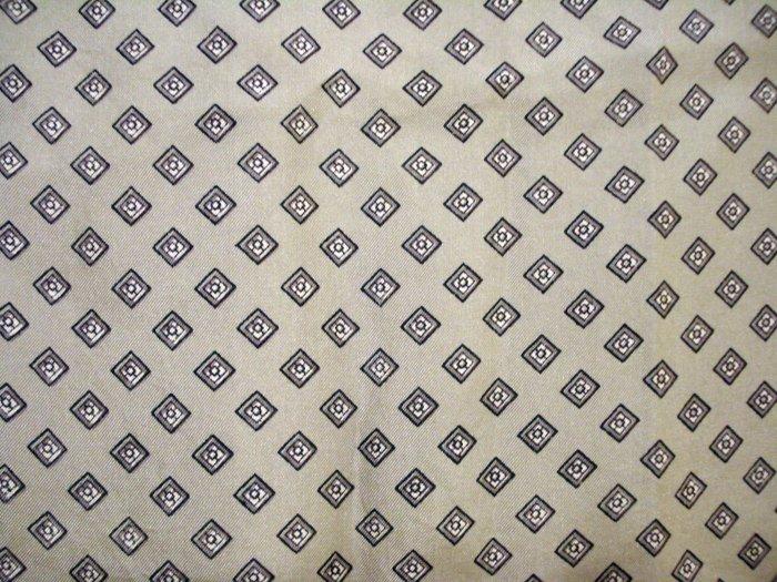Gray menswear print silk scarf rolled hem large vintage ll1410