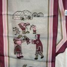 Eleanor Paine for Skemo Canada silk scarf Eskimo life vintage ll1471