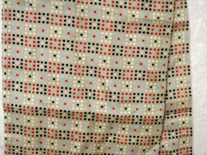 Long silk scarf double thick dotted squares unused summery vintage scarves ll2116