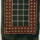Sacha long silk scarf autumn color plaid rolled hem vintage scarves ll2173
