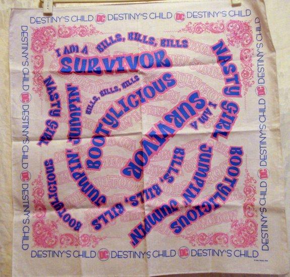 Destiny's Child cotton bandana kerchief scarf pink blue ll2186