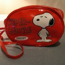 Snoopy Super-Beagle red plastic purse Schulz Peanuts 1958 shoulder strap vintage ll2338