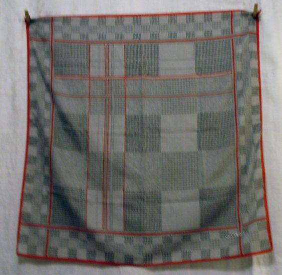 Norma Dori houndstooth, herringbone print synthetic scarf vintage ll2461