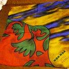Otto Kern Noa Noa silk hanky or pocket puff unisex excellent vintage ll2480